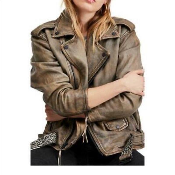 Free People Jackets & Blazers - Free People Genuine Leather Jacket